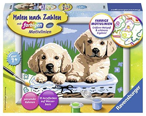 Ravensburger Malen nach Zahlen 27839 - Süße Hundewelpen