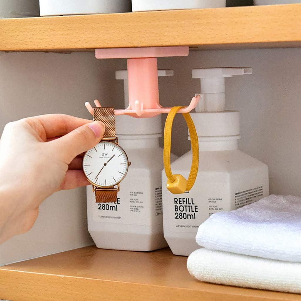 Küchenhelfer Zubehör Badehaken Wandmontage 360 ° drehbarer Kleiderbügel C2K4