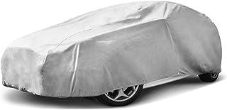 Budge BHB 1 Lite Autoabdeckung für den Innenbereich, staubdicht, UV beständig, passend für Schrägheck Autos bis 409 cm, grau