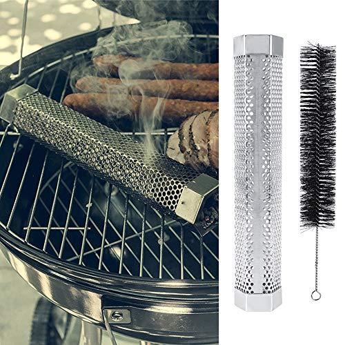 Natruss Raucherzeuger, BBQ-Raucherrohr, hitzebeständiges Edelstahl-Grillrohr zum Grillen im Freien