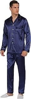 Mens Silk Satin Pajamas Set Classic Sleepwear Loungewear