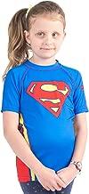 Fusion Superman Logo Kids Rash Guard Compression Shirt- Short Sleeve
