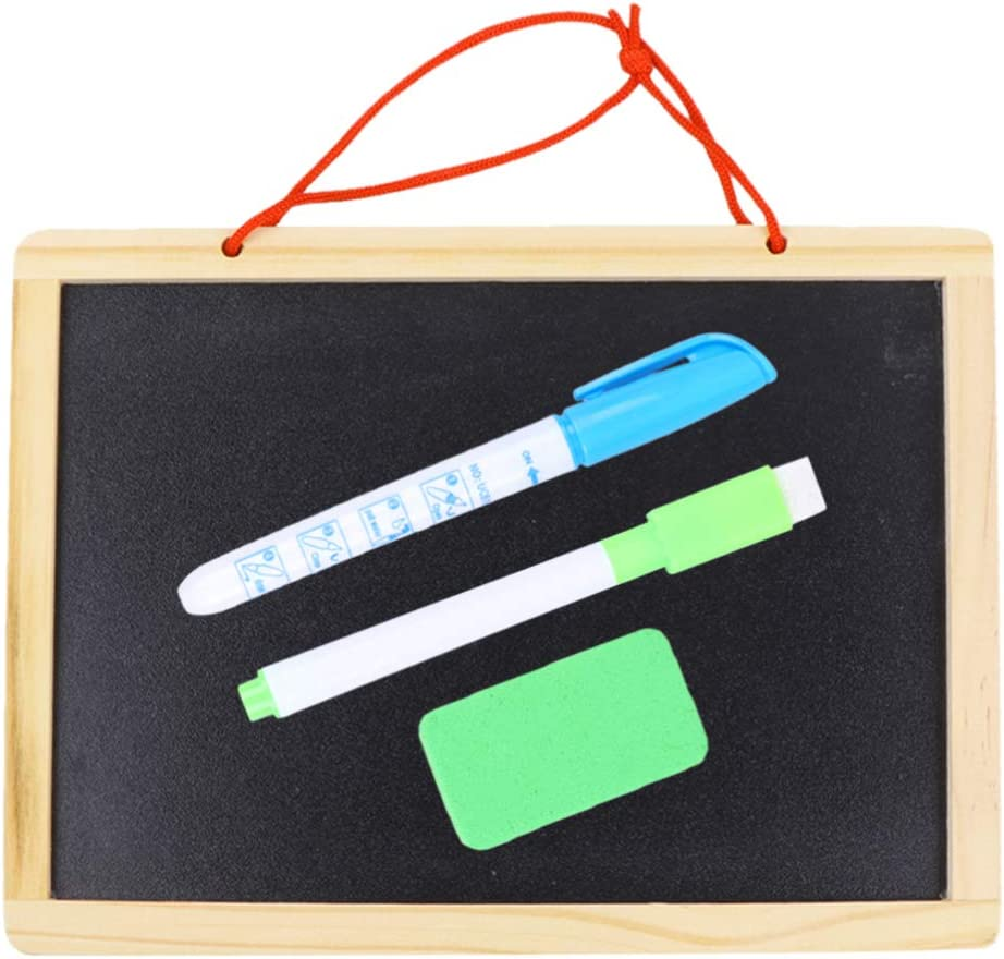 EXCEART Hanging Blackboard Wooden Frame Drawing Max Max 79% OFF 50% OFF Chil Board Sided