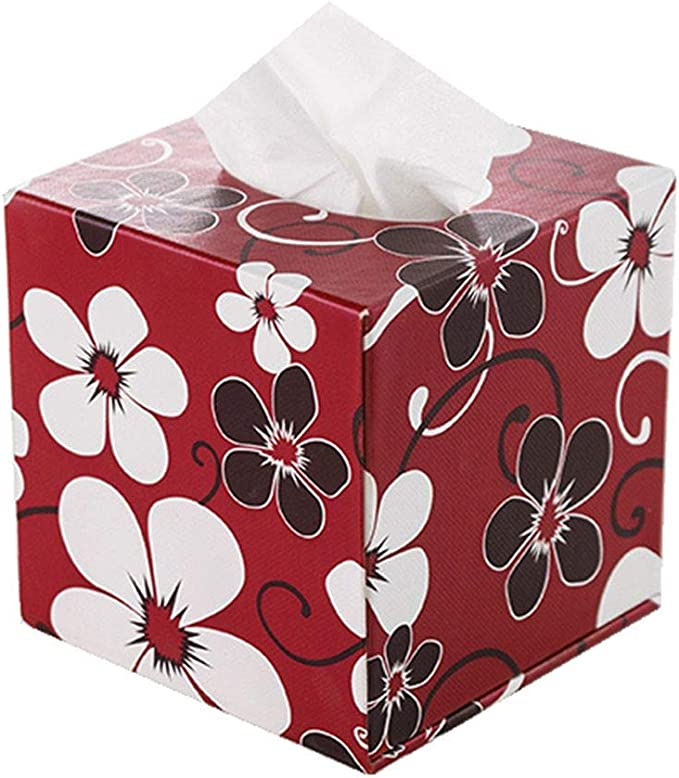 Lovely quality Red Christmas fabric Handmade Kleenex Tissue Box Cover