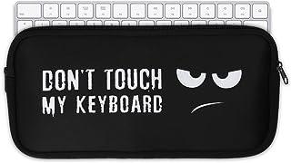 kwmobile Tastatur Hülle kompatibel mit Apple Magic Keyboard   Neopren Schutzhülle Case Tasche für Tastatur   Don't Touch My Keyboard Weiß Schwarz