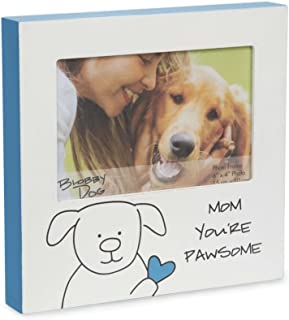 Pavilion Gift Company Blobby Dog - Mom You're Pawesome Blue Self Standing 4x6 Picture Frame