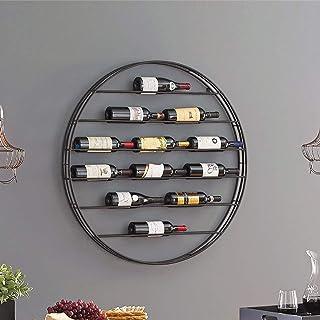 XYSQ Range Bouteille, Montage Mural Porte-Bouteilles De Vin d'or Vin Armoire Murale Ménage-Bouteilles De Vin Ronde Hanging...