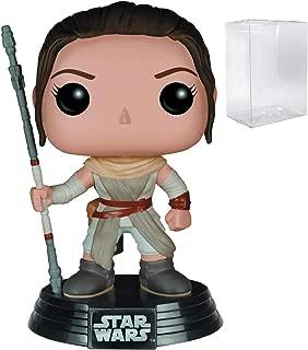 Star Wars: The Force Awakens - Rey Funko Pop! Vinyl Figure (Includes Compatible Pop Box Protector Case)