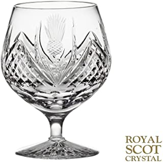 Royal Scot Crystal Scottish Thistle Decorated Single Brandy Glass 40cl 12oz