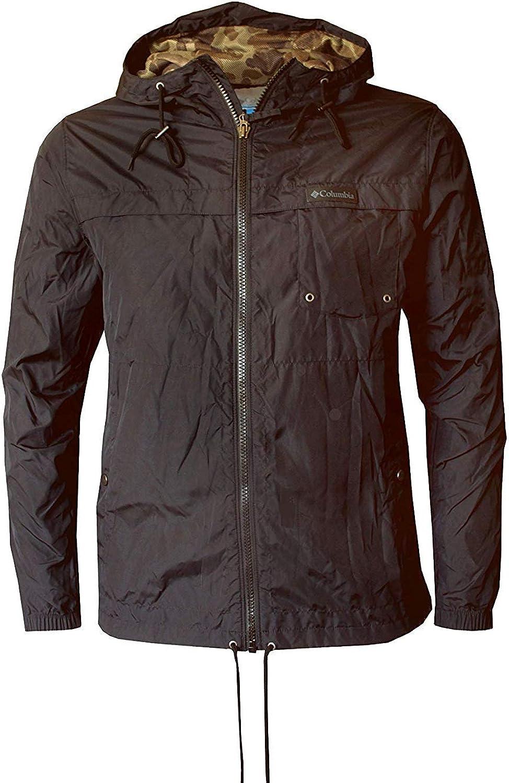 Columbia Men's Cypress Crossing Lightweight Water Resistant Windbreaker Hooded Jacket Black