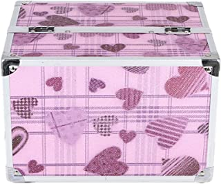 化粧オーガナイザーバッグ かわいいハートパターントラベルアクセサリーのためのポータブル化粧ケースシャンプーボディウォッシュパーソナルアイテム収納トレイ 化粧品ケース