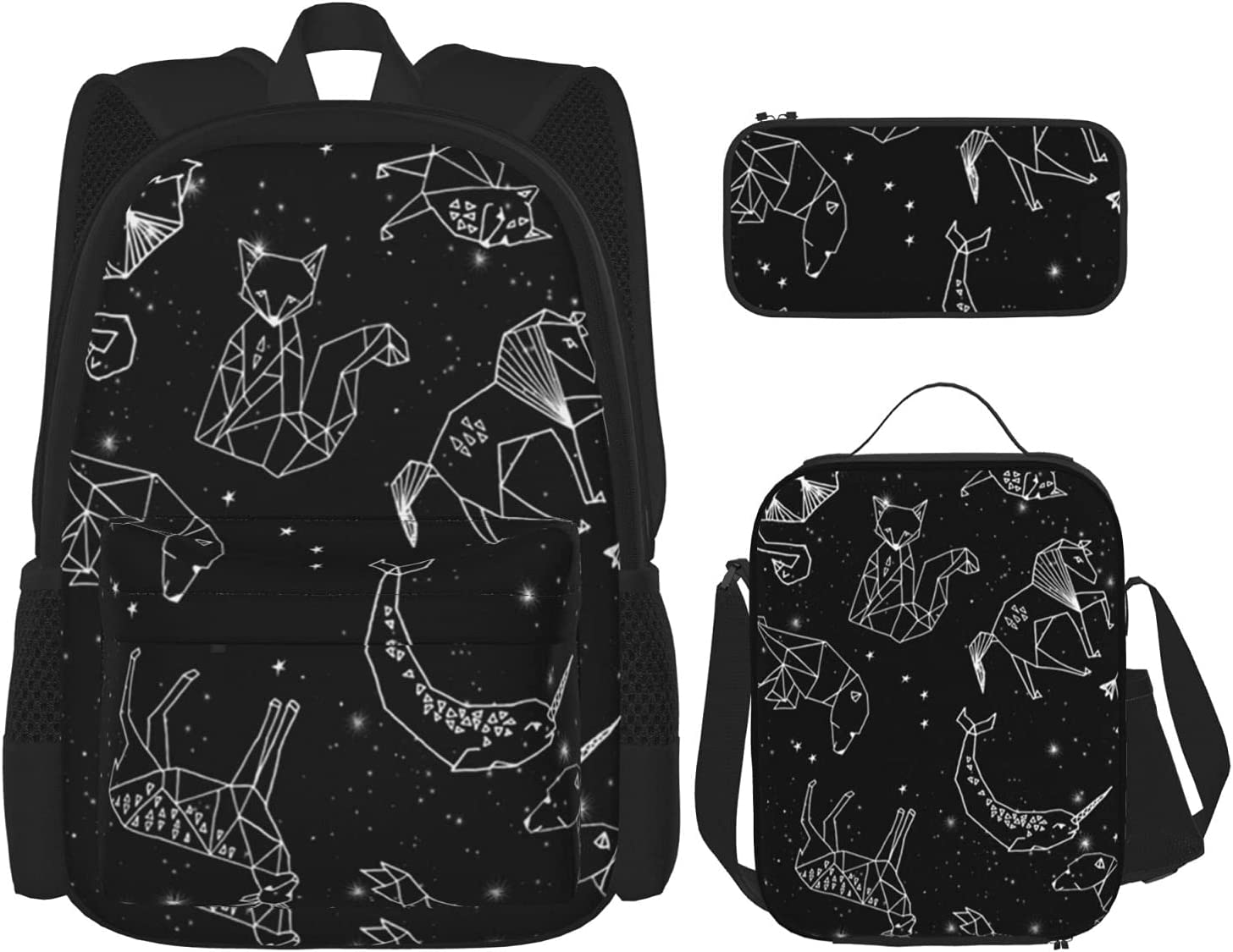 Minneapolis Mall Constellations Max 82% OFF Black White Backpack 3-Piece T Set