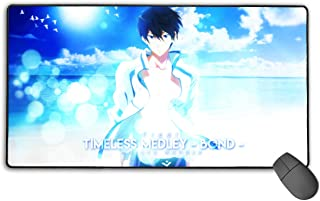 Angela R Mathews Free! Timeless Medley - Bond - Haruka Nanase Non-Slip Mouse Pad Rectangle Rubber Gaming Mouse Pad Anime Mouse Pad 30x15.7 Inch(75x40 cm)