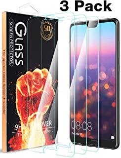 [3 Pack] Fnova for Huawei P20 Pro Screen Protector Tempered Glass, Case Friendly, Double Defence Technology, Anti-Scratch, Bubble Free, Lifetime Replacement Warranty