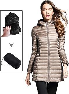 d00d1a209fb Sunseen Women s Lightweight Thin Puffer Jacket Hooded Packable Down Coat  Spring Slim Outdoor Sports Travel Parka