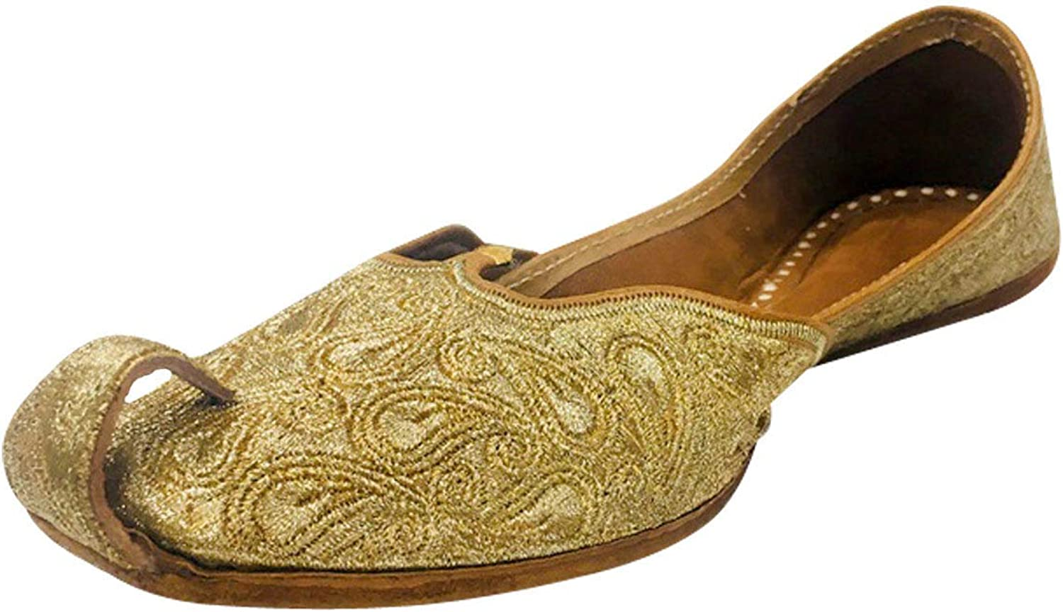 Step n Style Punjabi Jutti Casual shoes Indian Traditional shoes Khussa shoes Mojari gold
