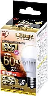 アイリスオーヤマ LED電球 口金直径17mm 60W形相当 電球色 全方向タイプ LDA8L-G-E17/W-6T5