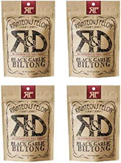 Righteous Felon Air Dried Biltong Beef Snack | KETO and PALEO | Gluten Free + High Protein | Hormone Free All Natural Bilt...