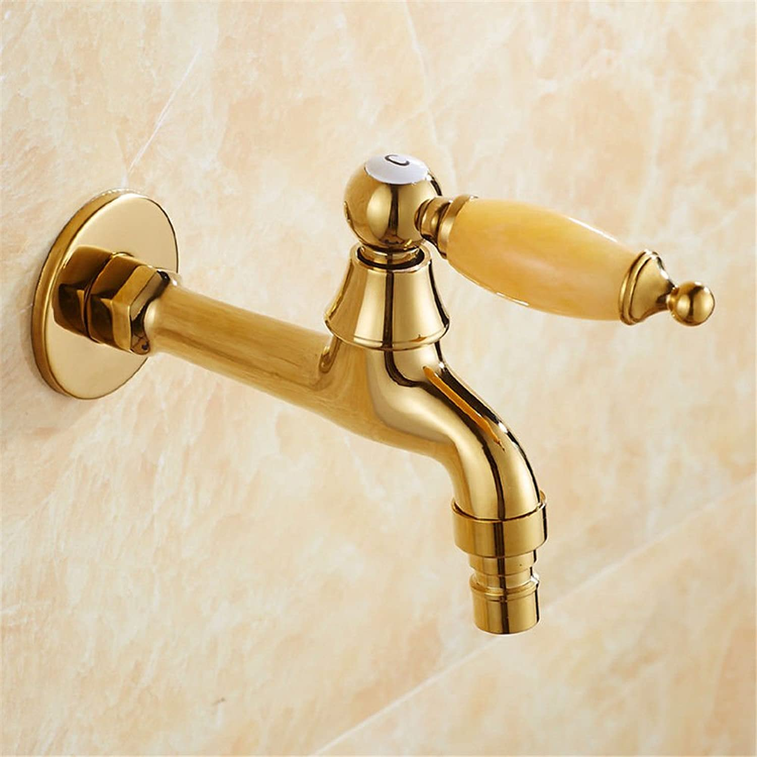 ETERNAL QUALITY Bathroom Sink Basin Tap Brass Mixer Tap Washroom Mixer Faucet Single Handle single hole full brass faucets washing long-肘 elbows sit-in basin single fauce