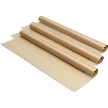 Zerama Reutilizable Antiadherente Papel de Horno de Alta Temperatura de Tefl/ón Resistente Hoja Horno Microondas Grill Hornear Mat 40 x 33 cm