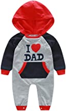 Keliay Toddler Romper Infant Baby Boys Girls Embroidery Letter Hooded Jumpsuit Outfits