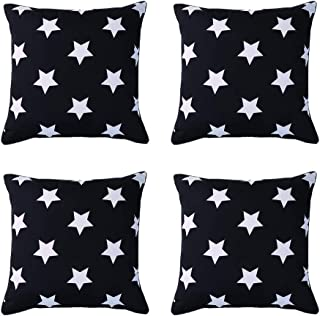SOMIDE Pack of 4 Outdoor Waterproof Pillow Covers, Square Decorative Patio Garden Cushion Case Throw Pillowcase for Patio ...