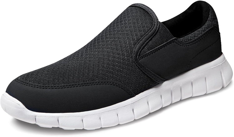 TF-RX300-BLK_Men 10.5 D(M) Tesla Men's Performance Sport Slip-on Loafer Sneaker RX300 ( Recommend 1 2 Size Up )