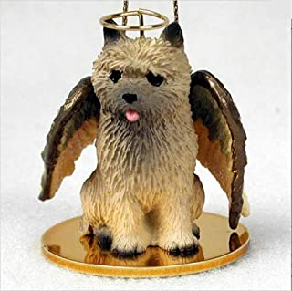 Ky & Co YesKela Cairn Terrier Ornament Angel Figurine Hand Painted Red