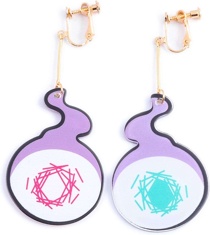 SosoJustgo2 Fashion Toilet Bound Hanako Kun Earrings Acrylic Ear Clip Cosplay Jewelry Gifts|Drop Earrings