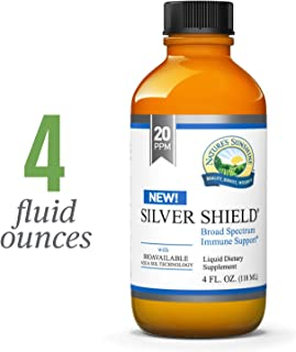 Nature's Sunshine Silver Shield Liquid, 4 fl. oz.   Colloidal Silver Liquid with Aqua Sol Technology Provides Immune Support and Protection