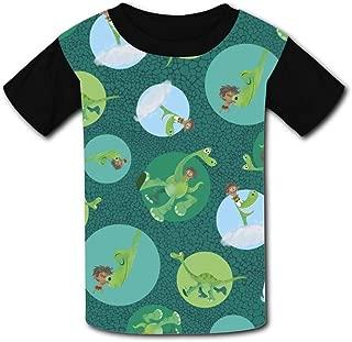 QIANBAIHUI Kids Youth The-Good-Dinosaur 3D Printed Short Sleeve T-Shirt Tees