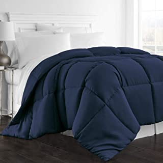 Beckham Hotel Collection 1300 Series - All Season - Luxury Goose Down Alternative Comforter - Hypoallergenic -Twin/Twin XL - Navy