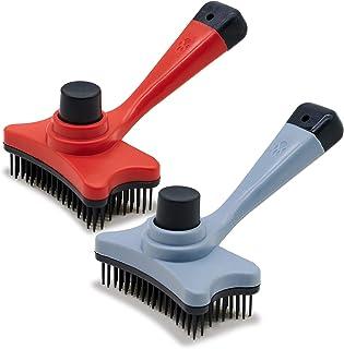 2 Pcs Pangtiger Self Cleaning Slicker Brush, Professional...
