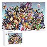 Wooden Jigsaw Puzzles Difficult 500/1000 Pieces,Smash Bros Pikachu Link Zelda Mario Kirby,Cute Cartoon Anime Game Entertainment DIY Toys Creative Gift Home Decor for Adult and Kids,Boys,Girls