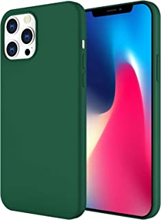SRZ Silicone Case Cover for iPhone 12 Pro Max, soft microfiber inside liquid silicone, [Silky and Soft Touch Series] for M...