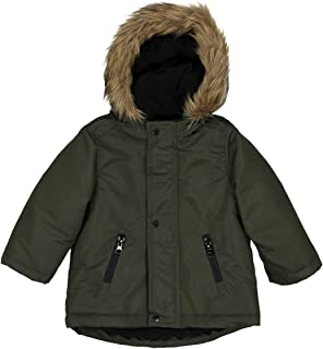 La Redoute Collections Boys Parka With Faux Fur Hood, 3 Months-3 Years