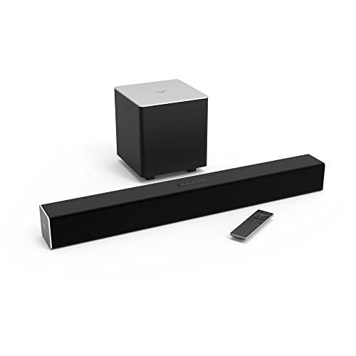 "VIZIO SB2821-D6 28"" 2.1 Channel Home Theater Surround Sound Bar with Bluetooth – Dolby Digital, Wireless Subwoofer, Digital Coaxial, Optical, Remote"