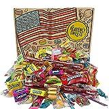 Caramelo Americano Caja Fiesta Dulces Americanos. 120 piezas! Classic USA Candy Airheads, Laffy-Taffy, Twizzlers, Nerds, Jolly Ranchers! ¡Dulces ideales para Halloween! Paquete de 30x20x5cm