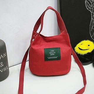 Xuba Damen-Umhängetasche mit Buchstaben, Bedruckt, Segeltuch, Umhängetasche, Handtasche für legere Verabredungen