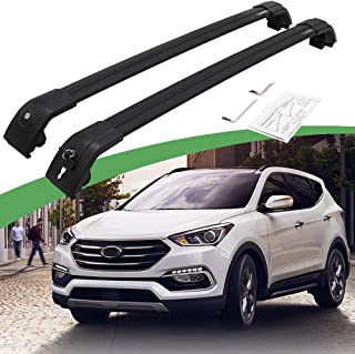 SnailAuto Black Luggage Rack Fit for 2013-2019 Hyundai Santa Fe Sport IX45 Cross Bars