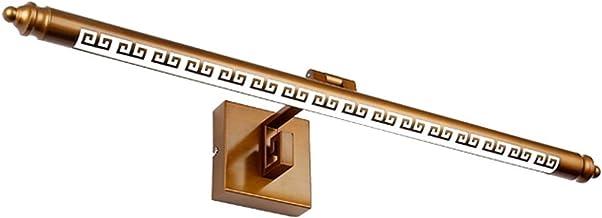LICHUAN Goud LED Spiegel Licht Retro Spiegel Koplamp Muur Opknoping Wandlamp voor Badkamer Slaapkamer Kaptafel Licht (Kleu...