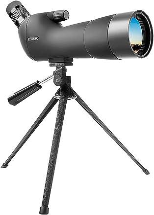 Enkeeo 20-60x60AE Telescopio Monocular con Trípode Anguloso Impermeable (Lente Multi-Revestido, BAK-4 Prisma, Zoom Óptico 41-21m/1000m para Observación Al Aire Libre)