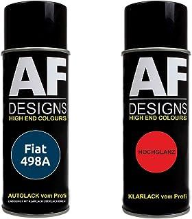 Autolack Spraydose Set für FIAT 498A Blu Lido Metallic Basislack Klarlack Sprühdose 400ml