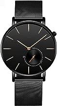 Fashion Quartz Watches Men Luxury Stainless Steel Strap Men's Wrist Watch Men Clock Hour,A