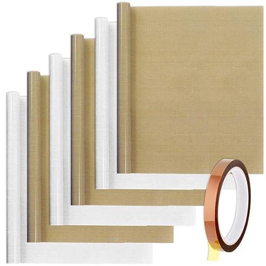 305 opinioni per SENHAI 6 fogli in teflon PTFE con 1 nastro termico per carta di trasferimento a