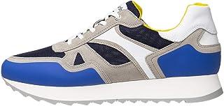Nero Giardini E001502U Sneakers Uomo in Pelle, Camoscio E Tela