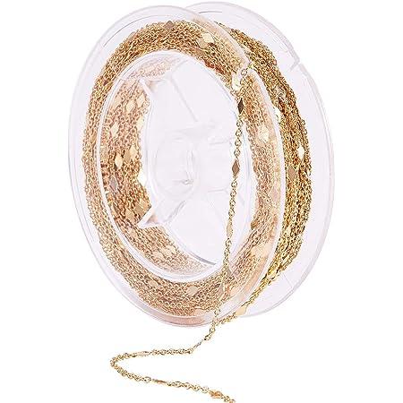Catena rol/ò in acciaio INOX 304 15 m DanLingJewelry 3 mm non saldata accessori per gioielli fai da te per collane
