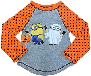 Infant & Toddler Girls Orange Minion Ghost Halloween Shirt