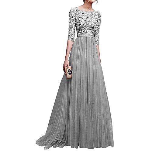 Minetom Donna Vestito Lungo Abito Da Cerimonia Elegante Vestiti Da  Matrimonio Lunghi Formale Banchetto Sera Maxi d5846e3ef10