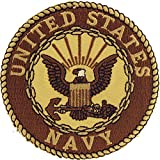 United States Navy USN Logo Seal Embroidered Patch, with Iron-On Adhesive (Desert/Sand)